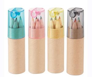 シャープナー付色鉛筆(6本入り)