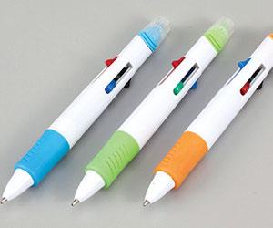 マーカー付4色ボールペン