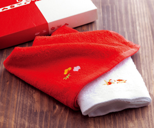 紅白タオル