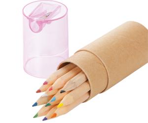 シャープナー付色鉛筆(12本入り)