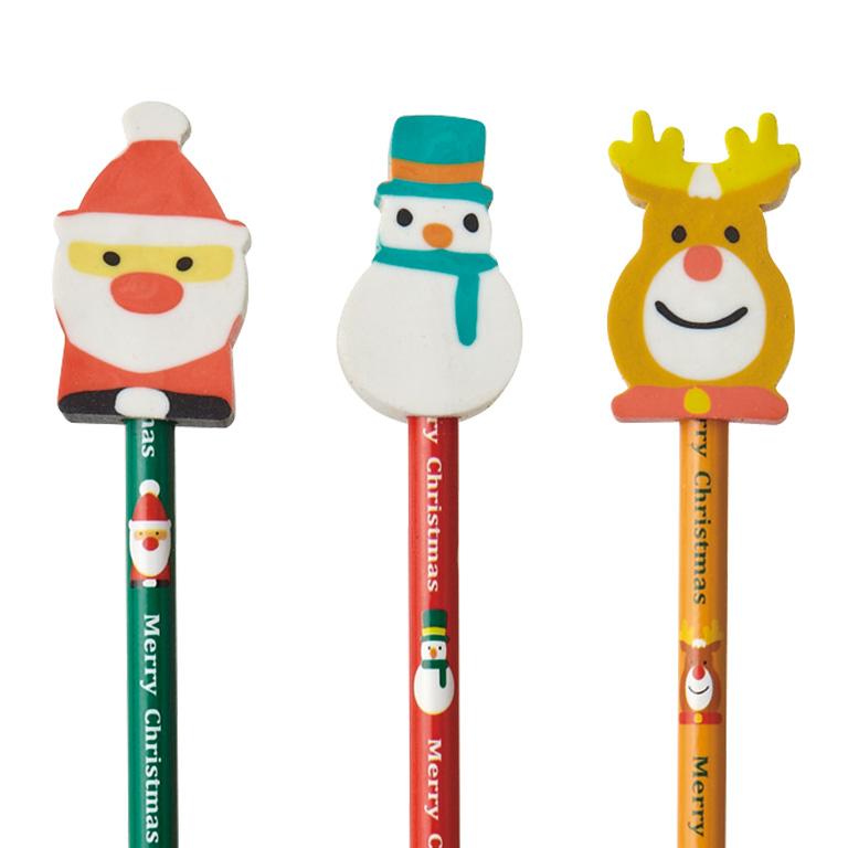消しゴム付鉛筆<クリスマス>
