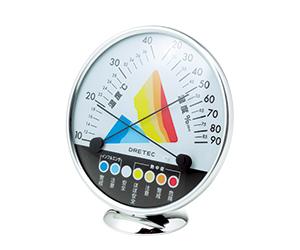 熱中症・インフルエンザ警告温湿度計