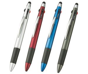 タッチペン付3色+1色スリムペン