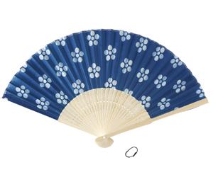 白竹涼風藍染扇子
