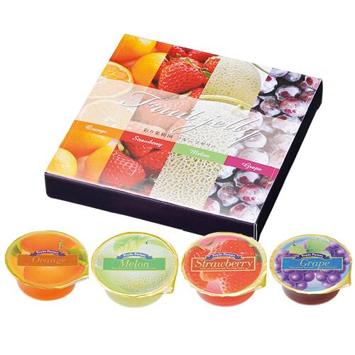 彩り果樹園フルーツゼリー4個入