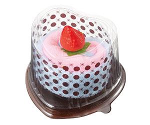 ハートケース入ロールケーキタオル(2枚組)