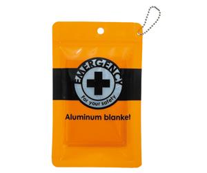 セーフティー 携帯用アルミブランケット(防水ポーチ入)