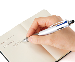 タッチペン付3色+1ボールペン