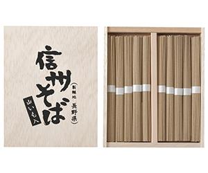 木箱入り信州そば(山いも入)10束