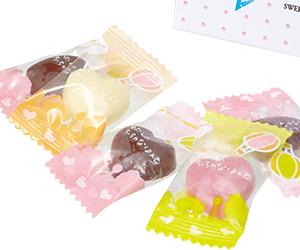 バレンタイン・リボンパック(ハートチョコ5粒入)