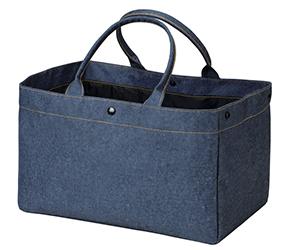 デニム風ファッショントートバッグ