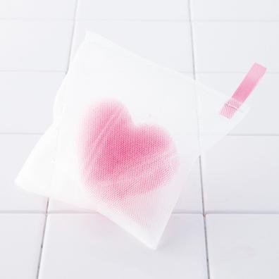 ハートスポンジ入り洗顔ネット