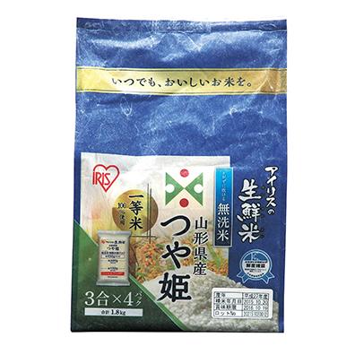 生鮮米 無洗米山形県産つや姫1.8kg
