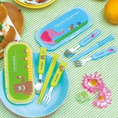 ピクニックアニマル 箸・フォーク・スプーンセット