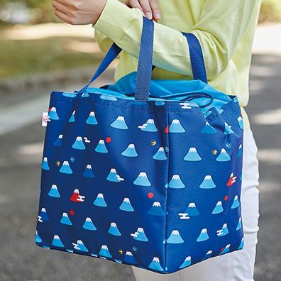 富士山柄 自転車カゴにぴったりバッグ