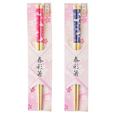 春彩箸 白竹花うさぎ