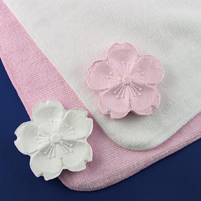 桜の花の圧縮タオル1枚