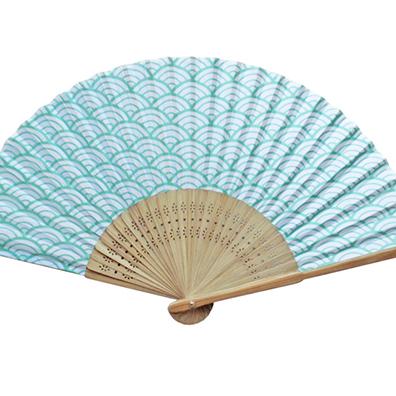 日本の伝統柄扇子 青海波すす竹