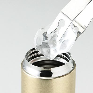 メタリック・ストッパー付き真空ステンレスボトル