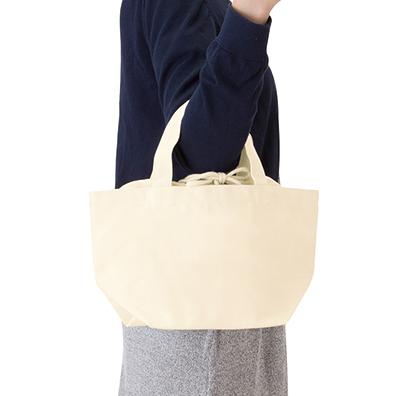 厚手キャンバス巾着付トート(S)