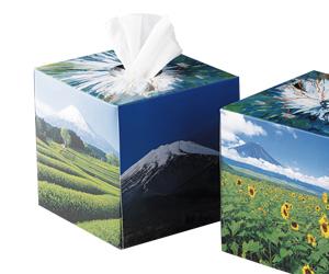 富士山サイコロ型ティシュ(山頂)