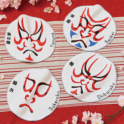 歌舞伎ハンドタオル