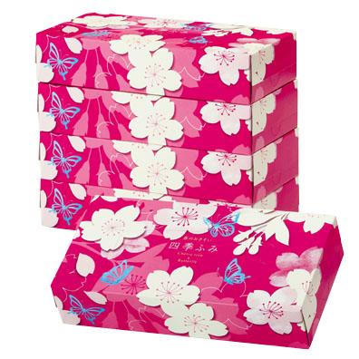 四季ふみ/春のおさそい桜ティッシュボックス