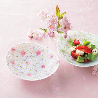 はんなり淡桜/楕円小鉢