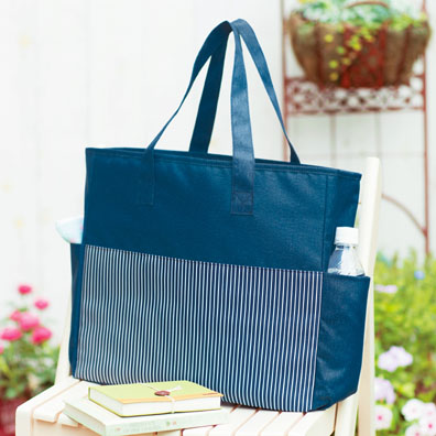 ジョイ・ストライプ/お買い物バッグ