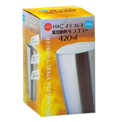 H&Cステンレス真空断熱タンブラー420ml