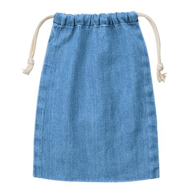 デニム巾着(M)ヴィンテージブルー