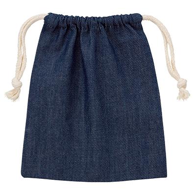 デニム巾着(S)インディゴ