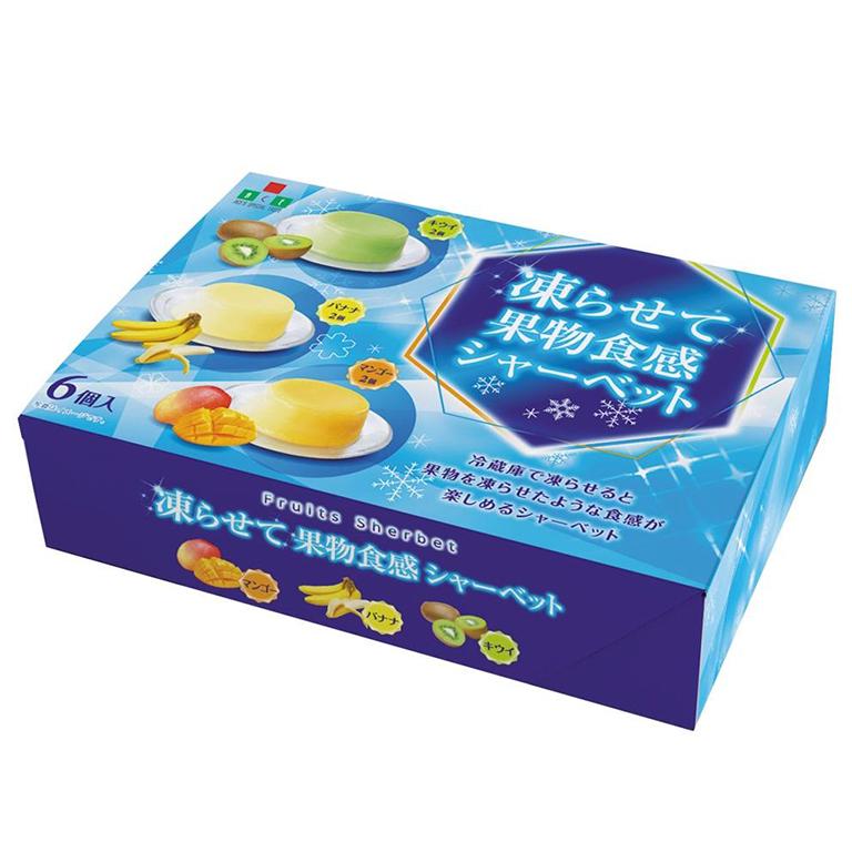 夏の贈り物 凍らせて果物食感シャーベット6個入