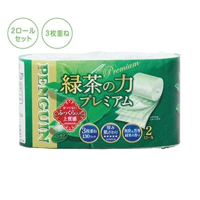 緑茶の力プレミアム トイレットティッシュ 2ロール