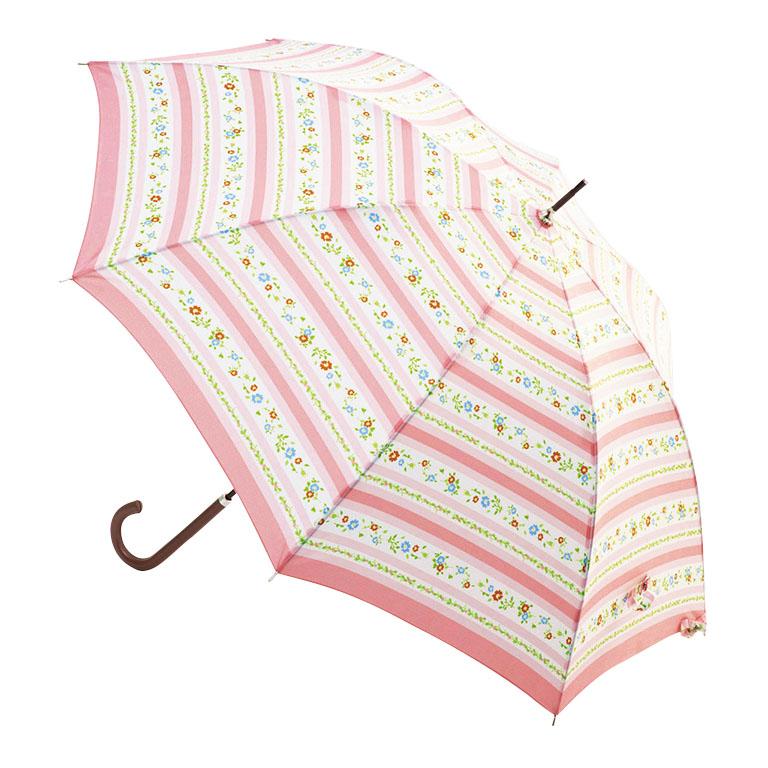 さかさ傘 フラワーリボンジャンプアンブレラ