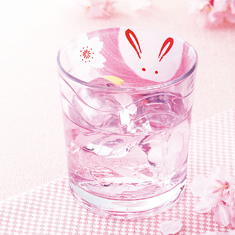 うさぎ桜・波グラス