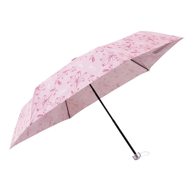 ピンクリリー 晴雨兼用折りたたみ傘