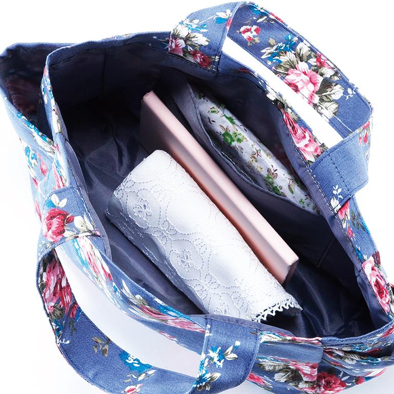 ロゼッタ・サイドポケット付きバッグ
