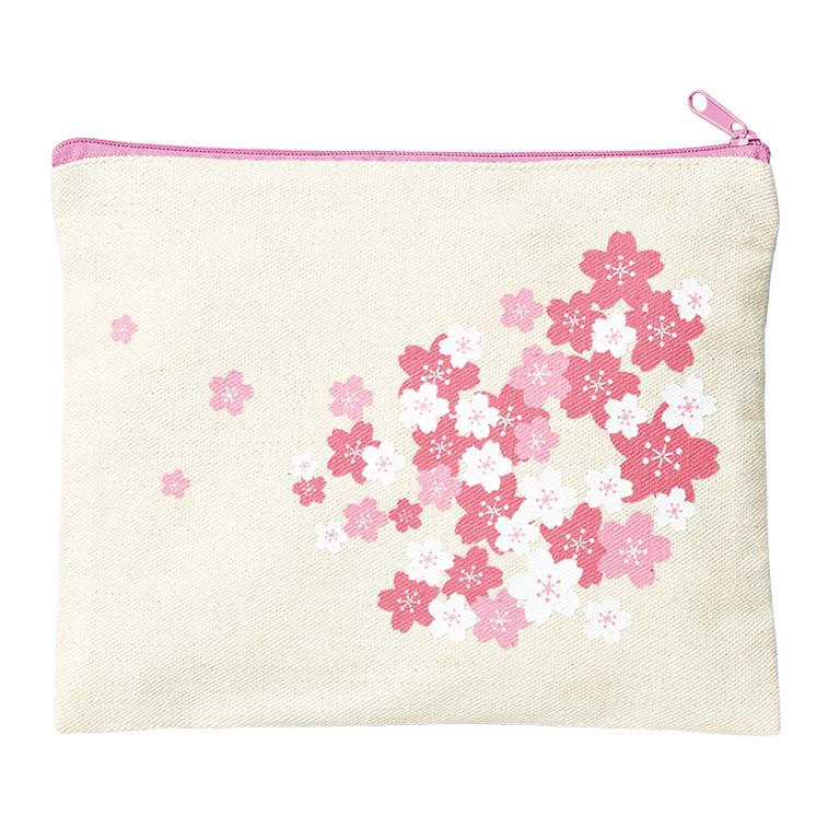 桜ファスナーポーチ