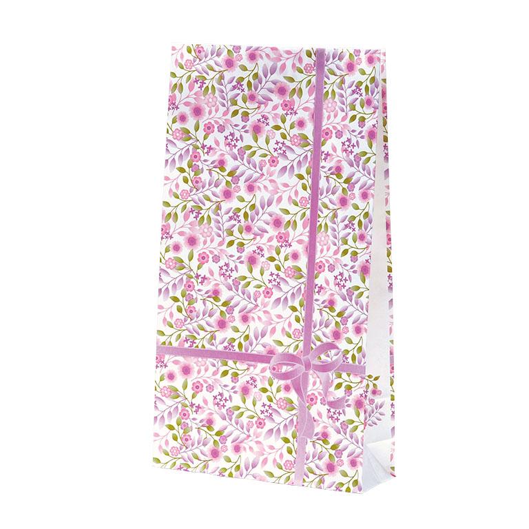 フラワープリント紙袋<資材>