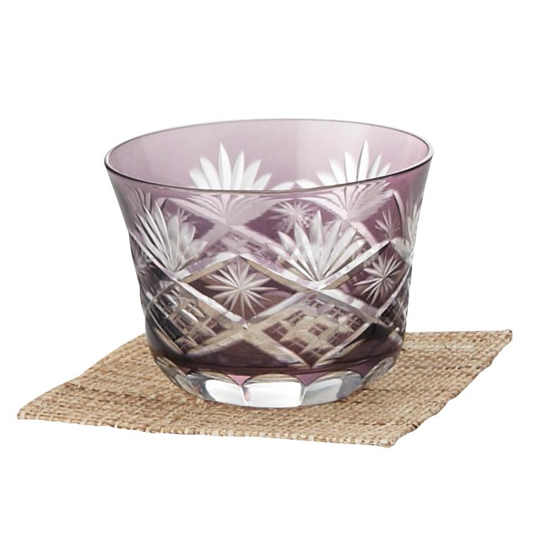 涼香・切子冷茶グラス(コースター付き)
