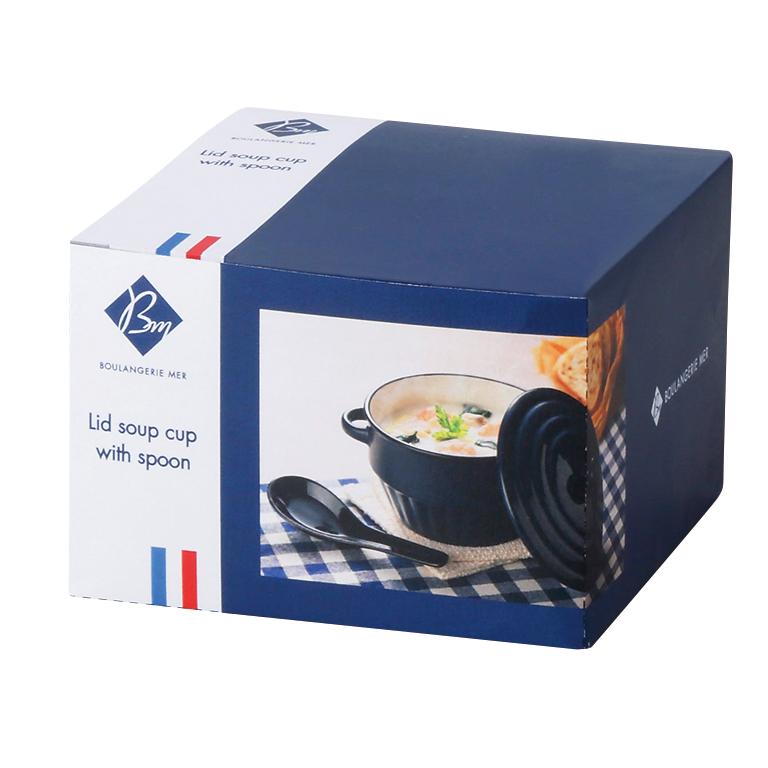 ブランジェリー メール・蓋付きスープカップ(スプーン付き)