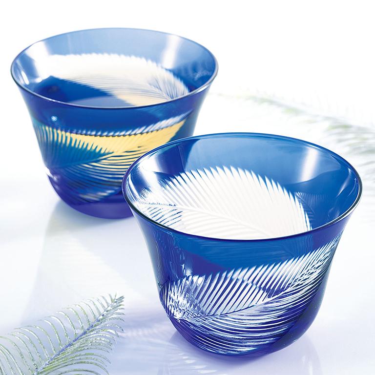 モダン切子・冷茶グラス