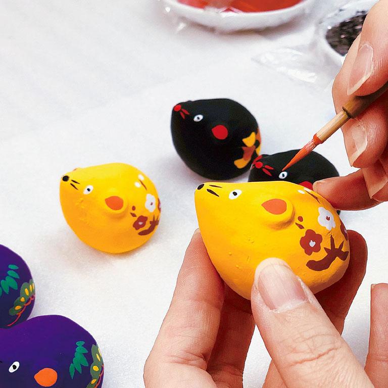 玩具工房 手描き開運福子