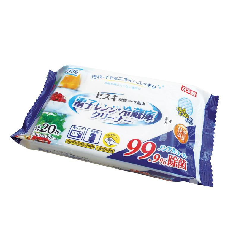 クリンクル 電子レンジ・冷蔵庫クリーナー20枚