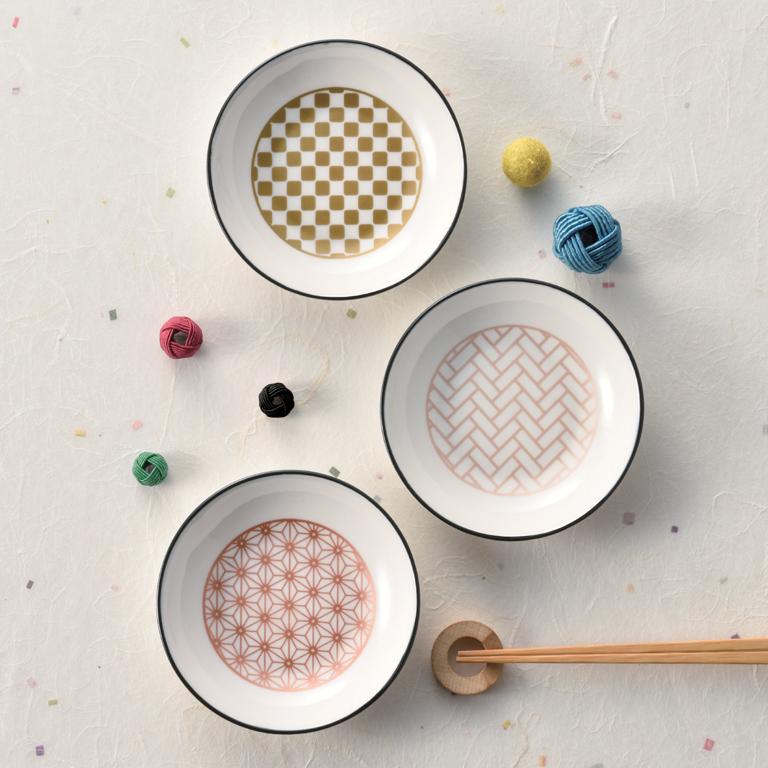 金銀銅 伝統和柄小皿三枚揃え