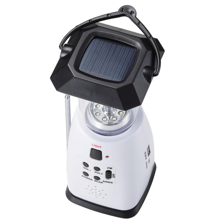スマホ対応 マルチ充電ランタン&ラジオ