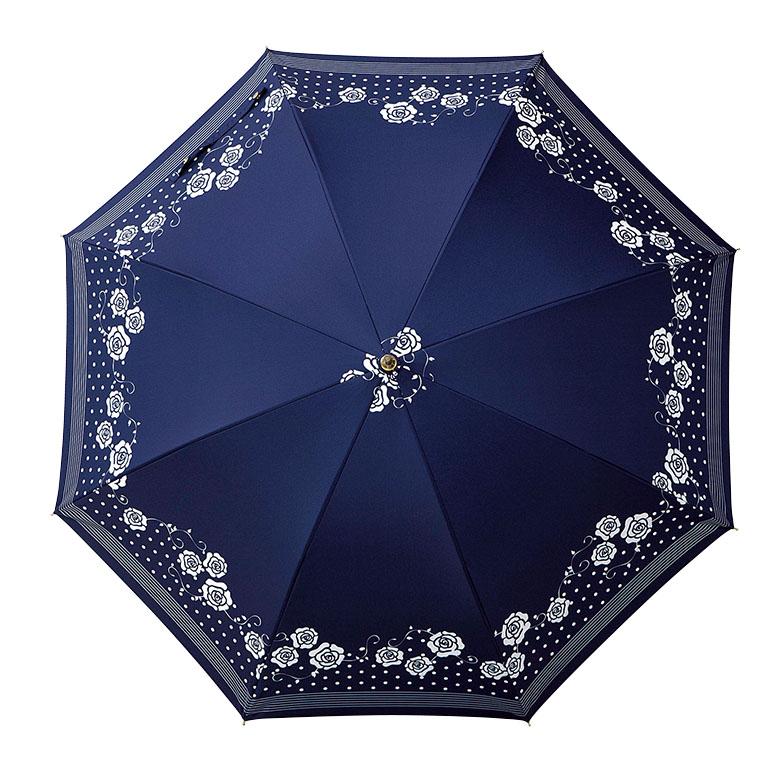 ローズドットボーダー/晴雨兼用長傘