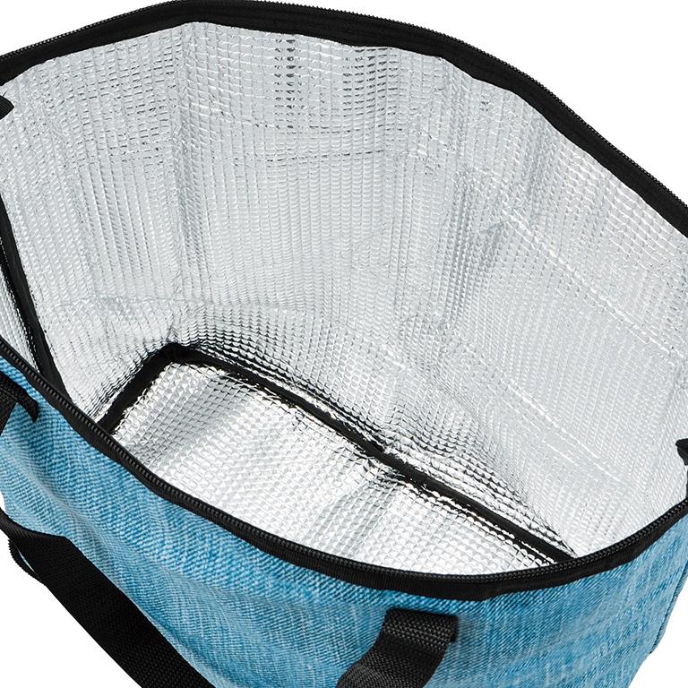 デニムカラー折りたたみ保冷温トートバッグ