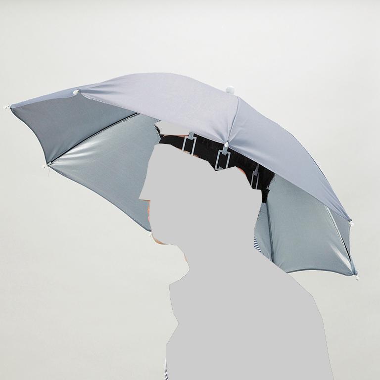 両手が使えるハット傘